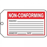 "Accuform MMT341CTP, Safety Tag ""Non-Conforming"" PF-Cardstock"