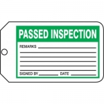 "Accuform MMT342CTP, Safety Tag ""Passed Inspection"" PF-Cardstock"
