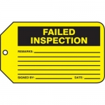"Accuform MMT343CTP, Safety Tag ""Failed Inspection"" PF-Cardstock"