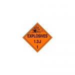 "Accuform MPL124CT50, DOT Placard Hazard Class 1 ""Explosives 1.3J"""