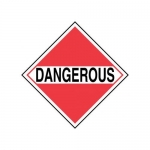 """Accuform MPLM01RM25, DOT Placard """"For Mixed Loads – Dangerous"""""""