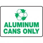 """Accuform MPLR535VA, 10″ x 14″ Safety Sign """"Aluminum Cans Only"""""""