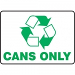 """Accuform MPLR538VS10, 10″ x 14″ Safety Sign """"Cans Only"""""""