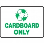"""Accuform MPLR558VA, 10″ x 14″ Safety Sign """"Cardboard Only"""""""