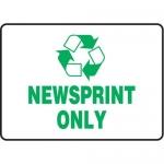 "Accuform MPLR567VA, 10″ x 14″ Safety Sign ""Newsprint Only"""