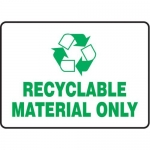 """Accuform MPLR579VA, 10″ x 14″ Safety Sign """"Recyclable Material Only"""""""