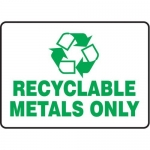 """Accuform MPLR582VA, 10″ x 14″ Safety Sign """"Recyclable Metals Only"""""""