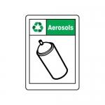 "Accuform MPLR591VS10, 14″ x 10″ Safety Sign ""Aerosols"""