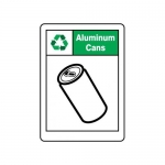 "Accuform MPLR594VA, 14″ x 10″ Safety Sign ""Aluminum Cans"""