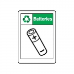 """Accuform MPLR600VS10, 14″ x 10″ Safety Sign """"Batteries"""""""
