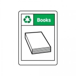 """Accuform MPLR603VA, 14″ x 10″ Safety Sign """"Books"""""""