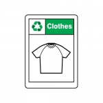 """Accuform MPLR621VA, 14″ x 10″ Safety Sign """"Clothes"""""""