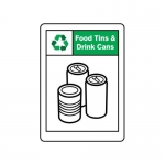 """Accuform MPLR630VA10, 14″ x 10″ Safety Sign """"Food Tins & Drink Cans"""""""
