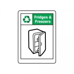"""Accuform MPLR633VA, 14″ x 10″ Safety Sign """"Fridges And Freezers"""""""