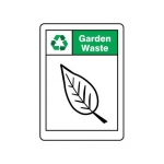 """Accuform MPLR636XP, 14″ x 10″ Recycle Sign """"Garden Waste"""""""