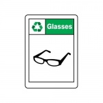 """Accuform MPLR639VS10, 14″ x 10″ Safety Sign """"Glasses"""""""