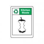 "Accuform MPLR643XP10, 7″ x 5″ Safety Sign ""Kitchen Waste"""