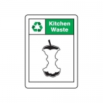 "Accuform MPLR644XP, 10″ x 7″ Safety Sign ""Kitchen Waste"""