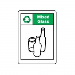 """Accuform MPLR651VA, 14″ x 10″ Safety Sign """"Mixed Glass"""""""