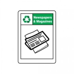 """Accuform MPLR666VA, 14″ x 10″ Safety Sign """"Newspapers And Magazines"""""""