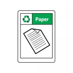 "Accuform MPLR667XT10, 7″ x 5″ Recycle Sign ""Paper"""