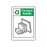 """Accuform MPLR672VA, 14″ x 10″ Safety Sign """"Paving & Rubble"""""""