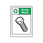 """Accuform MPLR687XV, 14″ x 10″ Recycling Sign """"Scrap Metal"""""""