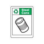 """Accuform MPLR696VS, 14″ x 10″ Recycle Sign """"Steel Cans"""""""