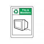 "Accuform MPLR704XF10, 10″ x 7″ Safety Sign ""TVs & Monitors"""