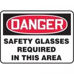 "Accuform MPPA002VS10, 10″ x 14″ OSHA Safety Sign ""Safety Glasses …"""