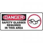 "Accuform MPPA014VS10, 7″ x 17″ OSHA Safety Sign ""Safety Glasses …"""