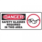 "Accuform MPPA014XV10, 7″ x 17″ OSHA Safety Sign ""Safety Glasses …"""