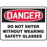 "Accuform MPPA016XV10, 10″ x 14″ OSHA Safety Sign ""Do Not Enter …"""