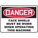 "Accuform MPPA018XT10, 10″ x 14″ OSHA Safety Sign ""Face Shield …"""