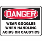 "Accuform MPPA019XT10, 10″ x 14″ OSHA Safety Sign ""Wear Goggles …"""