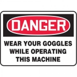 """Accuform MPPA020XF10, 10″ x 14″ Safety Sign """"Wear Your Goggles …"""""""