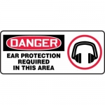 "Accuform MPPA025XF10, 7″ x 17″ OSHA Safety Sign ""Ear Protection …"""