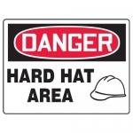 "Accuform MPPA027XP10, 10″ x 14″ OSHA Safety Sign ""Hard Hat Area"""
