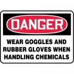 """Accuform MPPA032XF10, 10″ x 14″ OSHA Safety Sign """"Wear Goggles …"""""""