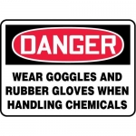 "Accuform MPPA032XT10, 10″ x 14″ OSHA Safety Sign ""Wear Goggles …"""