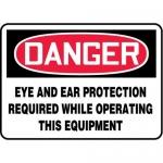 """Accuform MPPA037XF10, 10″ x 14″ OSHA Safety Sign """"Eye And Ear …"""""""