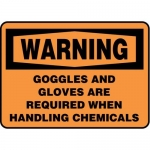 """Accuform MPPA303XF10, 10″ x 14″ Safety Sign """"Goggles And Gloves …"""""""