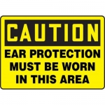 """Accuform MPPA603XF10, 10″ x 14″ Safety Sign """"Ear Protection Must …"""""""