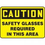 "Accuform MPPA617XV10, 10″ x 14″ OSHA Safety Sign ""Safety Glasses …"""