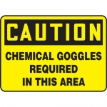 """Accuform MPPA618XF10, 10″ x 14″ Safety Sign """"Chemical Goggles …"""""""