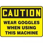 "Accuform MPPA629XT10, 10″ x 14″ OSHA Safety Sign ""Wear Goggles …"""