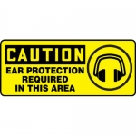 """Accuform MPPA632XF10, 7″ x 17″ Safety Sign """"Ear Protection …"""""""