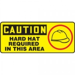 """Accuform MPPA641XP10, 7″ x 17″ Safety Sign """"Hard Hat Required …"""""""