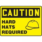 """Accuform MPPA642XP10, 10″ x 14″ OSHA Safety Sign """"Hard Hats Required"""""""