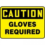 """Accuform MPPA644XP10, 10″ x 14″ OSHA Safety Sign """"Gloves Required"""""""